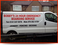 Company Van - Joinery Services in Glasgow, Lanarkshire